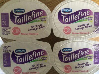 Taille fine recette fromage blanc saveur vanille 0% - Produit - fr