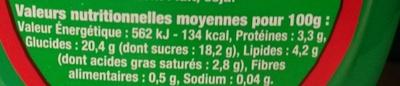 Danette Saveur Chocolat-Noisette - Informations nutritionnelles - fr