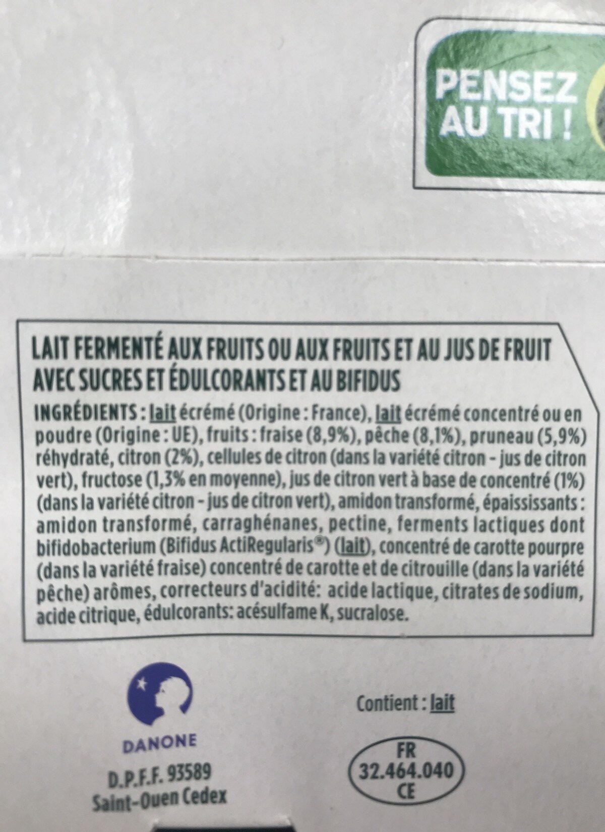 Activia 0% - Ingredienti - fr