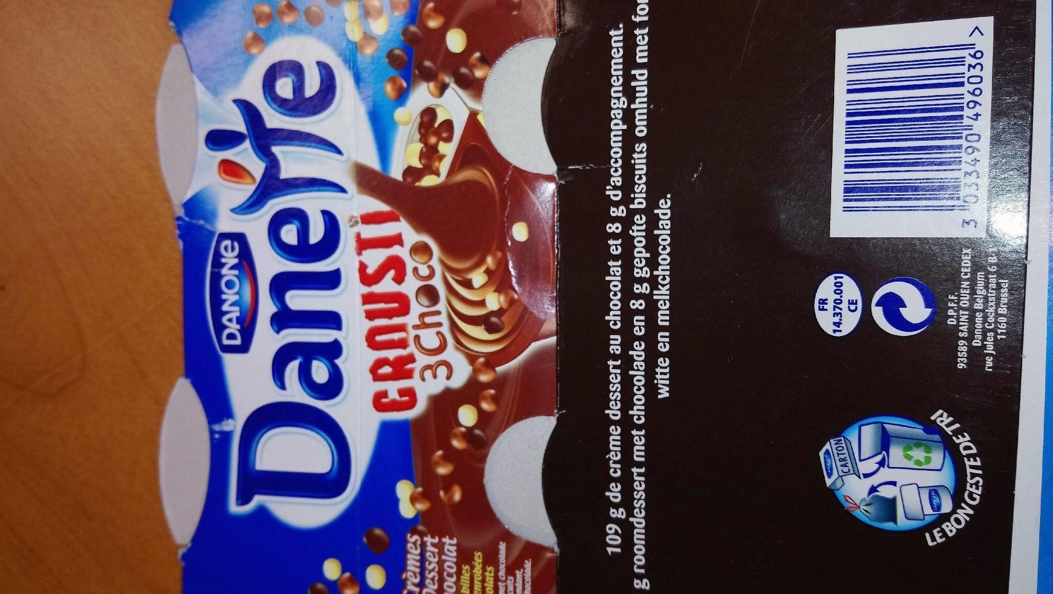 Danette croustillant 3 choco - Product - fr