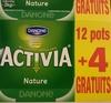 Activia (Nature) 12 pots + 4 Gratuits - Produit