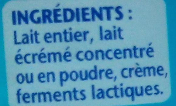 Velouté (Nature) - Ingrediënten