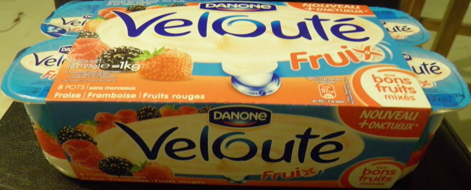 Velouté Fruix (Fraise, Framboise, Fruits rouges) 8 Pots - Product