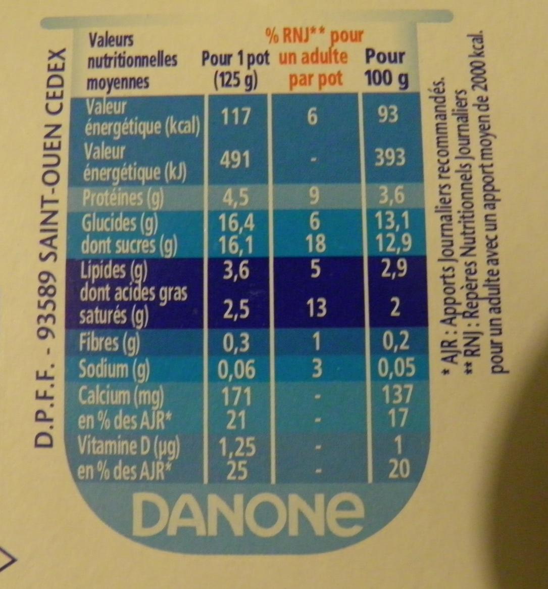 Velouté Fruix (Fraise, Framboise, Fruits rouges) 8 Pots - Nutrition facts - fr