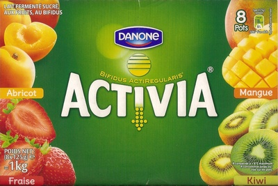 Activia (Abricot, Fraise, Kiwi, Mangue) 8 Pots - Product