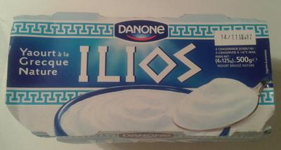 ILIOS Yaourt  à la Grecque Nature (4 pots) 500 g - Danone - Produit - fr
