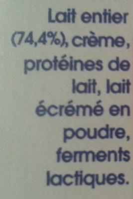 ILIOS Yaourt  à la Grecque Nature (4 pots) 500 g - Danone - Ingrédients - fr