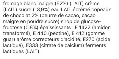 Jockey Stracciatella (6,9 % MG) - Ingrediënten