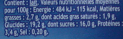 Danette Caramel - Informations nutritionnelles - fr