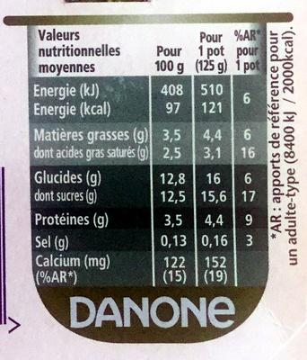 Activia fruits mixés - Nutrition facts - fr