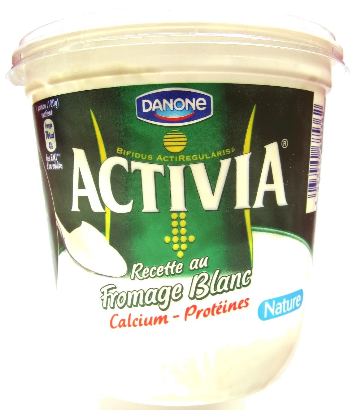 Activia Recette au Fromage Blanc (3,1 % MG) Nature - Produit - fr