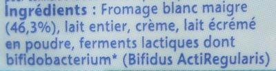 Activia Recette au Fromage Blanc (3,1 % MG) Nature - Ingrédients - fr