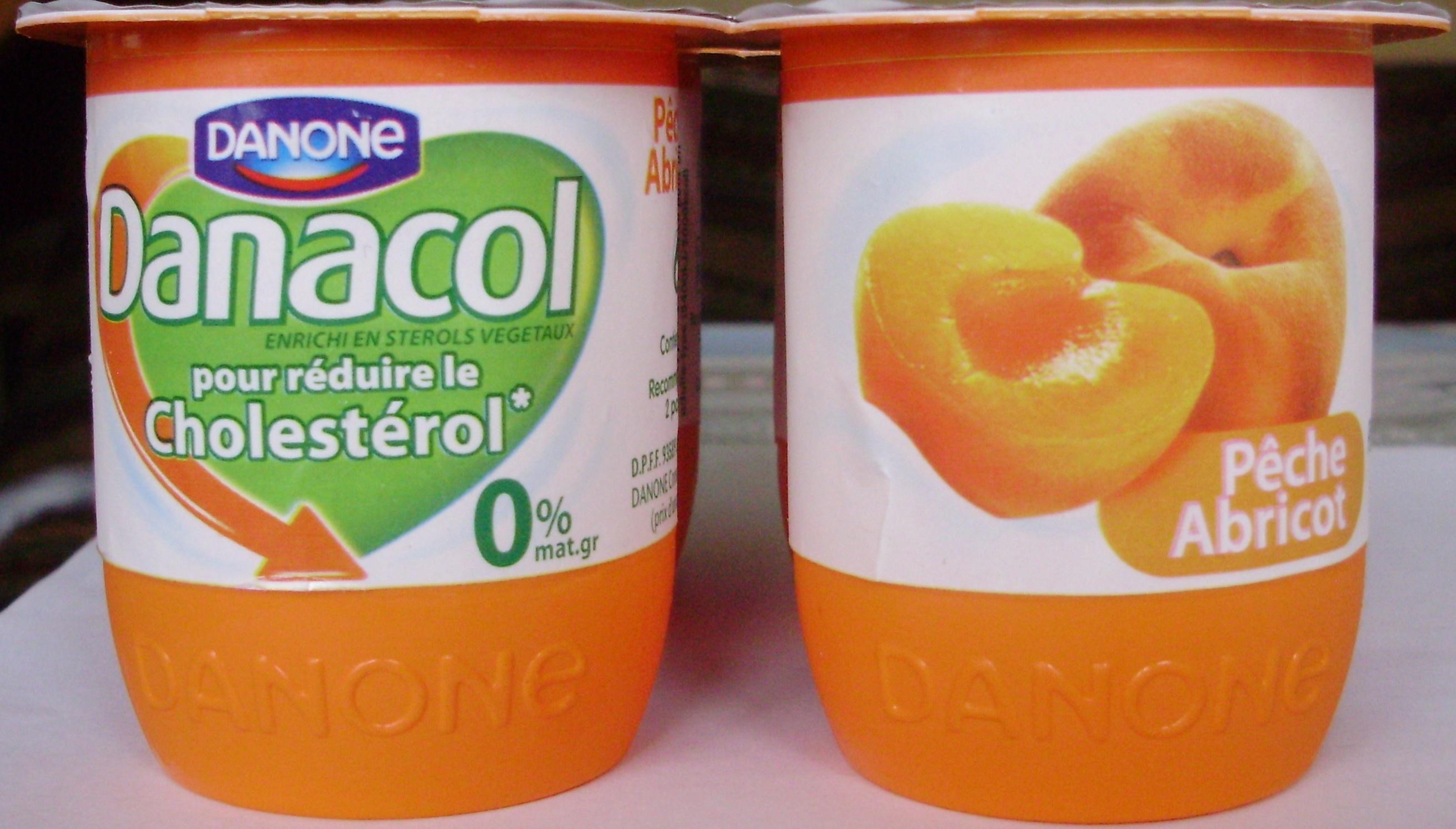 Danacol (0 % MG) Pêche Abricot - Produit - fr