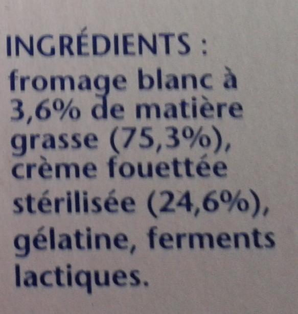 Gervita - Ingredients - fr