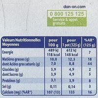 Fjørd Näture frais et doux - Nutrition facts - fr