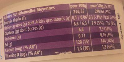 Fromage blanc Taillefine noix de coco - Informations nutritionnelles - fr
