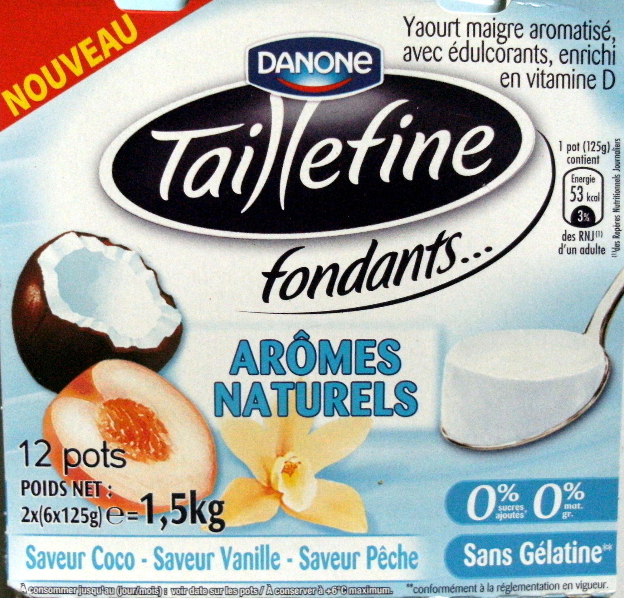 Taillefine 0 Mg 0 Sucres Ajoutés Arômes Naturels Saveurs