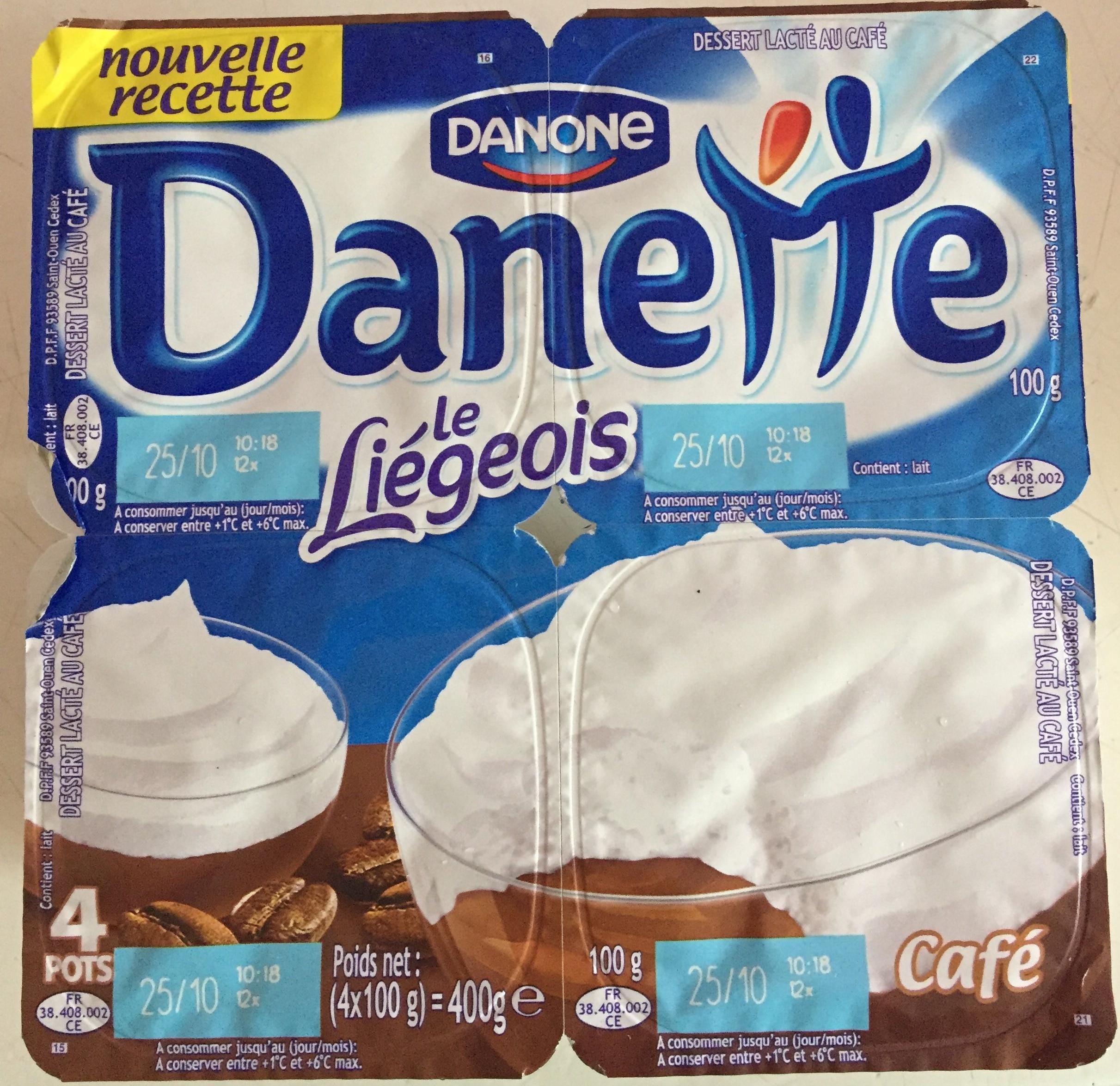 Danette (le Liégeois Café) 4 Pots - Product - fr