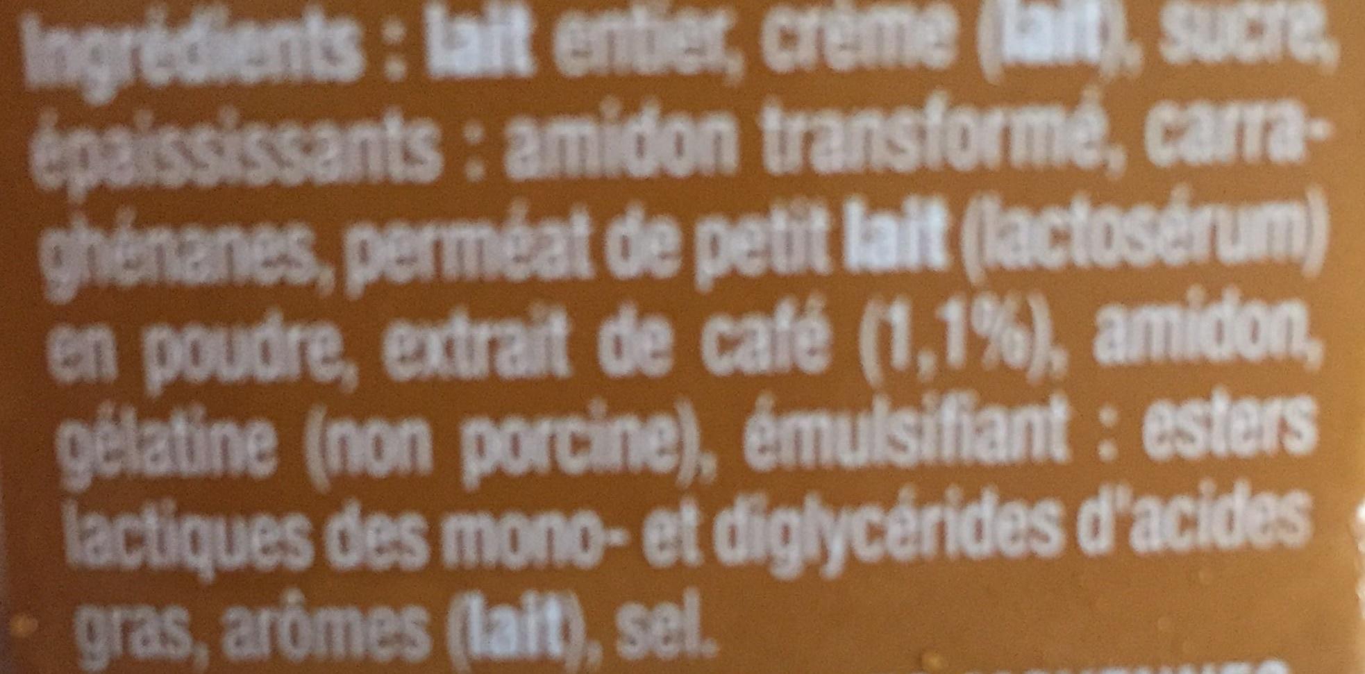 Danette (le Liégeois Café) 4 Pots - Ingrediënten - fr