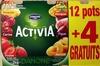 Activia (Ananas, Cerise, Fraise, Mangue, Figue, Abricot) 12 Pots + 4 Gratuits - Product