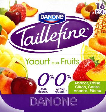 Taillefine Yaourt aux fruits 0% - Prodotto - fr