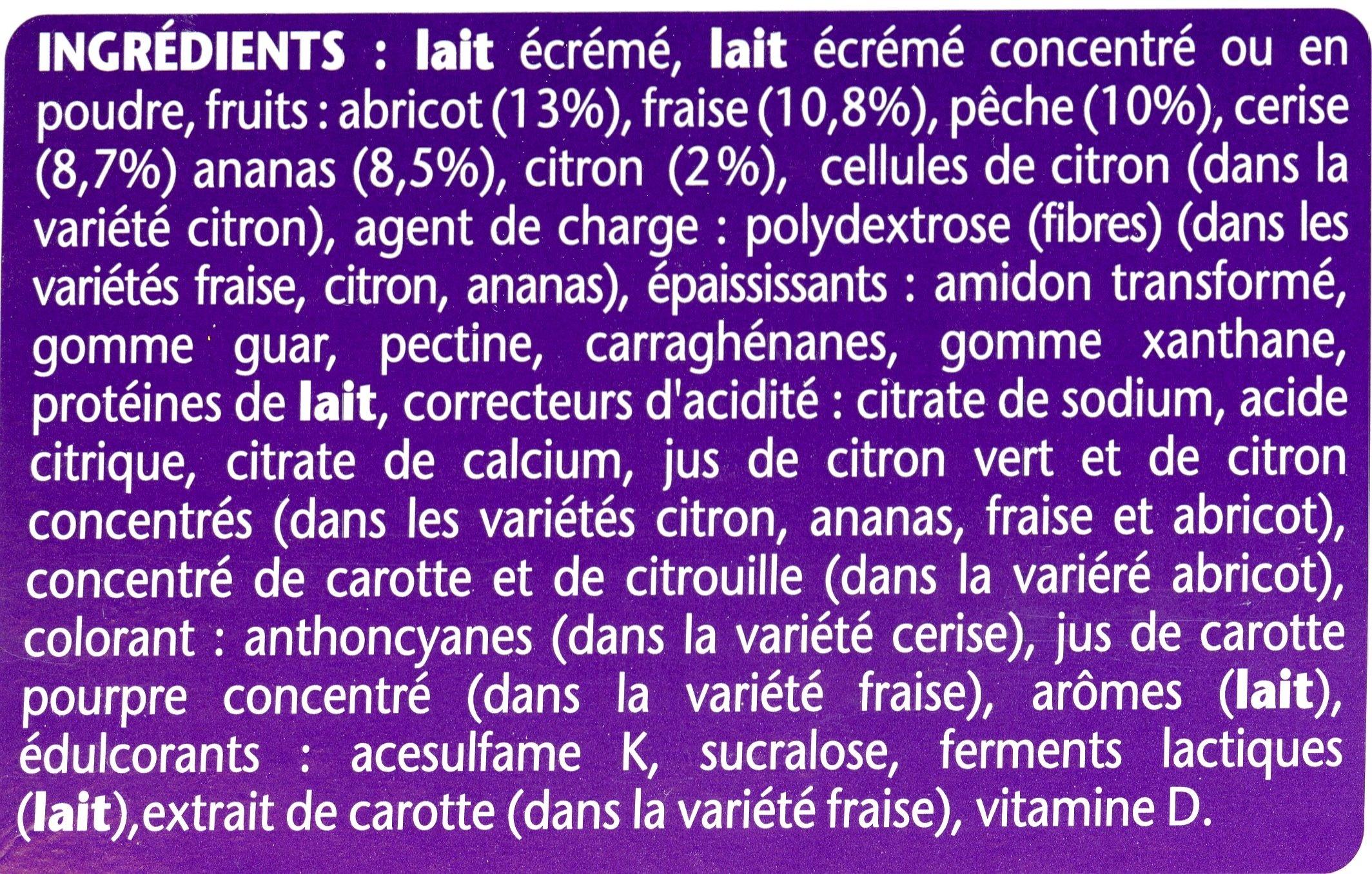 Taillefine Yaourt aux fruits 0% - Ingredienti - fr