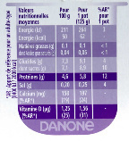 Taillefine Yaourt aux fruits 0% - Valori nutrizionali - fr