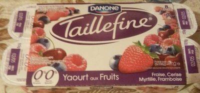 Taillefine (0 % MG) Fruits rouges panachés 8 Pots - Product