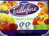 Taillefine, Yaourt au Fruits (0 % MG, 0 % Sucres Ajoutés) - (Abricot, Fraise, Citron, Cerise, Ananas, Pêche) 16 Pots - Product
