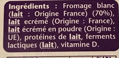 Taillefine Fromage blanc 0% - Ingrédients - fr
