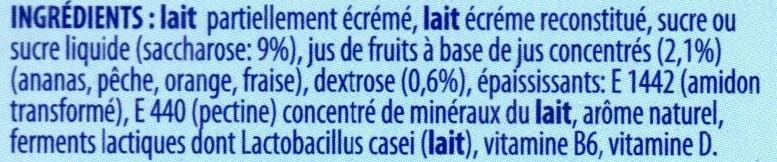 Actimel goût multifruits - Ingredients