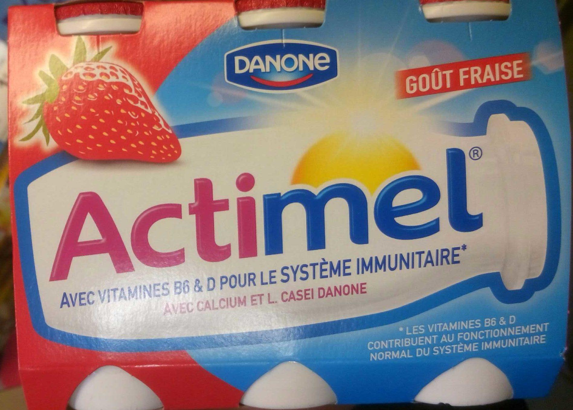 Actimel Goût Fraise - Produit - fr