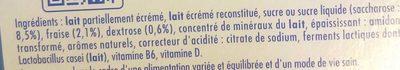 Actimel Goût Fraise - Ingrédients - fr