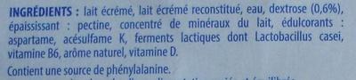 Actimel + (0 % MG) x 6 Bouteilles - Ingrediënten - fr