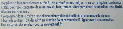 Actimel - Ingredients