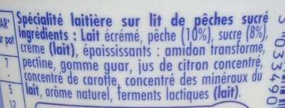 Danio Pêche (2,4 % MG) - Ingredients - fr