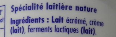 Danio nature - Ingrediënten - fr