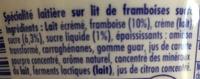 Danio Framboise (2,4 % MG) - Ingrediënten - fr
