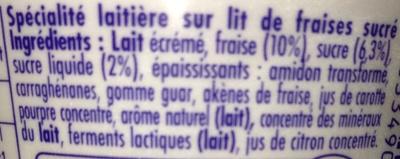 Danio Fraise 0% - Ingrediënten