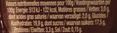 Danette Chocolate - Informations nutritionnelles - fr