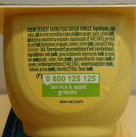 Danette - Ingredients