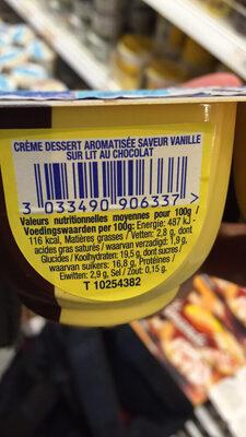 danette - Informations nutritionnelles
