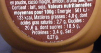 Danette (la Chocolaterie Choco Caramel) - Nutrition facts