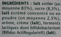Activia (Saveur Vanille) 12 Pots - Ingrediënten - fr