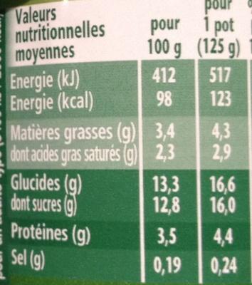 Activia® Fruits Cerise - Nutrition facts