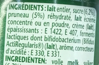 Activia Fruits Pruneaux - Ingredients