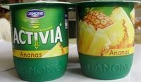 Activia Fruits Ananas - Produit - fr
