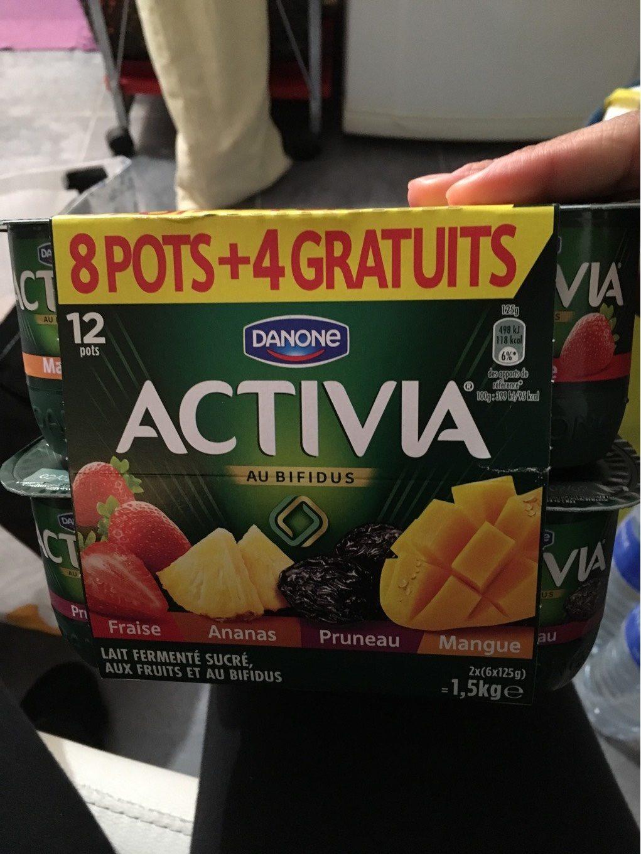 Activia Lait fermenté au bifidus aux fruits les 12 pots de 125 g - Prodotto - fr