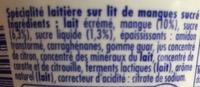 Danio Mangue (0 % MG) - Ingrediënten - fr