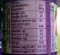 Taillefine aux Fruits Fraise - Nutrition facts